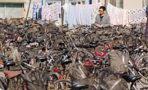waves of bikes