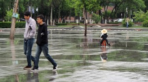 Toddlers sail the waters in Beiyang Square