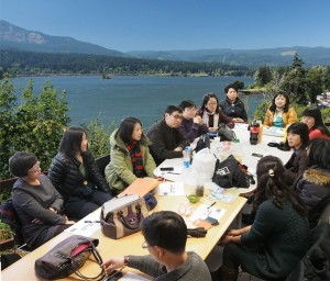 Teacher's Meeting at the Columbia River