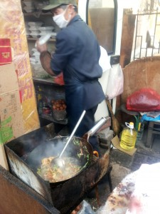 outdoor frying rice