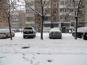 Snow Parking Lot