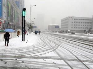 Anshan Xi Dao without traffic