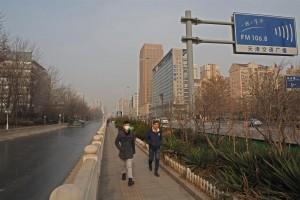 Weijin Lu by bus stop