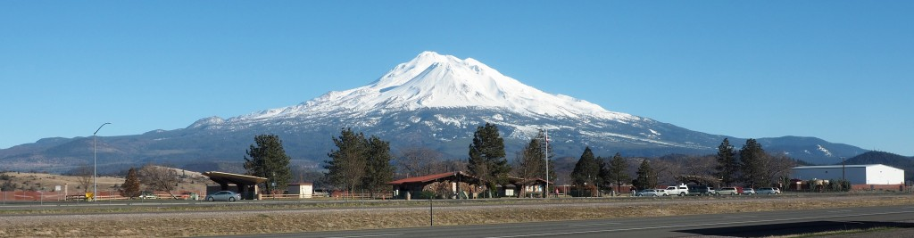 Mt Shasta and Weed Rest Stop